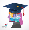 infographic Template Graduation cap vector image vector image
