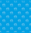 kids balance bike pattern seamless blue vector image vector image