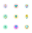 Lamp for home icons set pop-art style vector image vector image