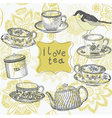 love tea time vector image vector image
