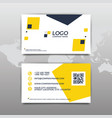 modern simple business card template flat design vector image