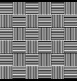 mosaic of squares with embossed offset line vector image