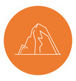 mountain with ledges icon in thin line style vector image vector image