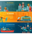 Oil Industry Horizontal Banners Set vector image vector image