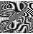 Optical black and white design vector image