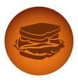 orange emblem sandwich icon vector image vector image