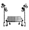 oudoors bench icon image vector image vector image