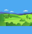 paper cut landscape nature cartoon scene vector image