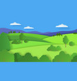 paper cut landscape nature cartoon scene with vector image vector image