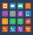 phone and telecommunication icons set flat design vector image vector image