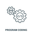 program coding line icon thin design style from vector image vector image