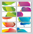 set of banners with abstract color circle shapes vector image