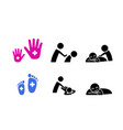 set of massage icon vector image vector image