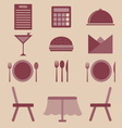 Set of restaurant color icons vector image