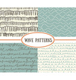 Set of wave seamless patterns background Great for vector image vector image