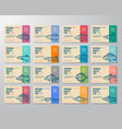 sixteen premium quality fish labels set abstract vector image vector image