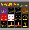 spanish set of number one templates vector image