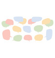 speech color bubbles set speak chatting boxes vector image