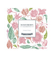 square floral design with pastel african daisies vector image vector image