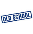 square grunge blue old school stamp vector image vector image