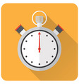 stopwatch flat design vector image
