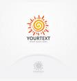 sun logo design vector image vector image