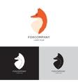 template fox vector image vector image