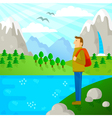 travel in nature vector image vector image