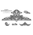 vintage architectural decoration elements for vector image vector image