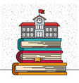 white background with sparkles of school buildinf vector image