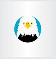 white head eagle icon logo symbol vector image vector image
