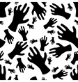 zombie hand seamless pattern vector image