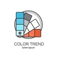 Color palette logotype design templates vector image