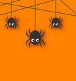 Cute funny spiders and cobweb vector image