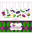 Bright carnival seamless texture and Welcome to vector image
