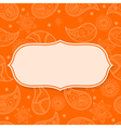 Abstract frame with paisley pattern vector image vector image