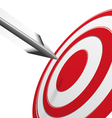 Arrows hitting the center of the red target vector image vector image