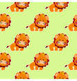 baby pattern with a cute little lion vector image