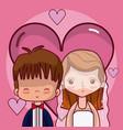 beeautiful wedding couple cartoon vector image vector image