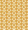 Beer snack seamless background pattern pretzel vector image vector image
