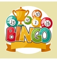 Bingo or lottery retro game with and vector image