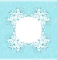 blue floral decorative frame filigree branch vector image vector image