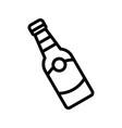 bottle feast of saint patrick line icon vector image vector image