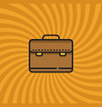 business case bag icon simple line cartoon vector image