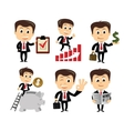 businessman in various poses vector image vector image