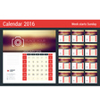 Calendar Set for 2016 Year Stationery Design Print vector image vector image