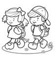 children walk to school vector image vector image