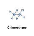 chloroethane or monochloroethane vector image vector image