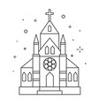 christian chapel or church icon in line vector image vector image
