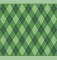 christmas new year argyle pattern scottish cage vector image vector image